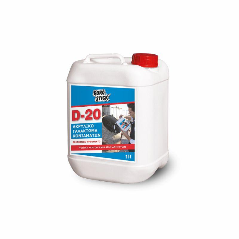 DuroStick Γαλάκτωμα Ακρυλικό Βελτιωτικό Κονιαμάτων D-20 1L, sbga01