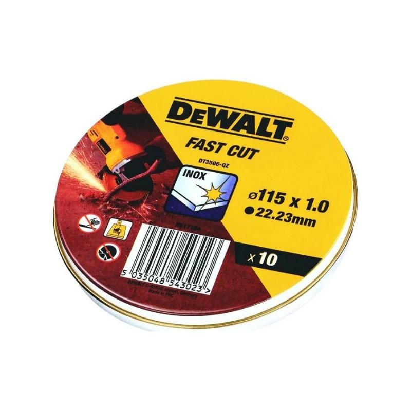 DEWALT DT3506 ΔΙΣΚΟΣ ΚΟΠΗΣ INOX 115x1mm 10ΤΕΜ/ΚΟΥΤΙ