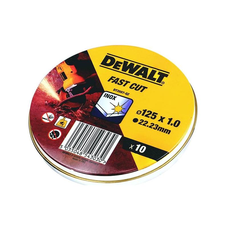 DEWALT DT3507 ΔΙΣΚΟΣ ΚΟΠΗΣ INOX 125x1mm 10ΤΕΜ/ΚΟΥΤΙ