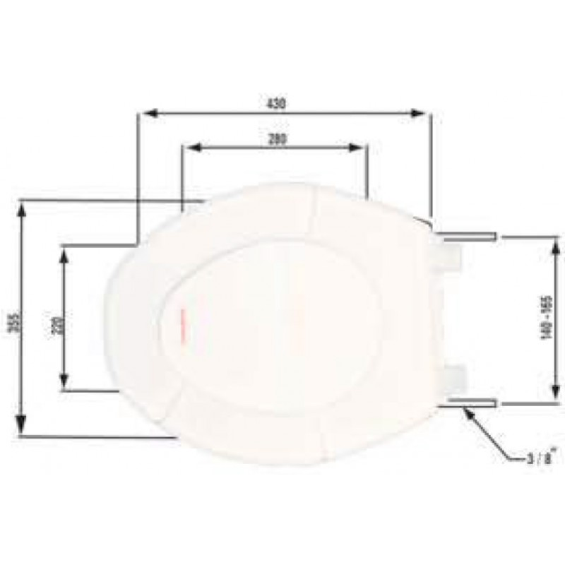 Κάλυμμα Λεκάνης W C 7 301030804 Lamaplast