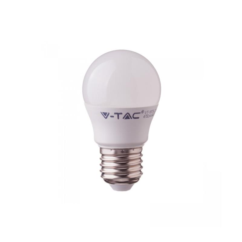 ΛΆΜΠΑ LED E14 G45 SMD 5.5W ΘΕΡΜΌ ΛΕΥΚΌ 2700K CRI>95 7491, V-TAC