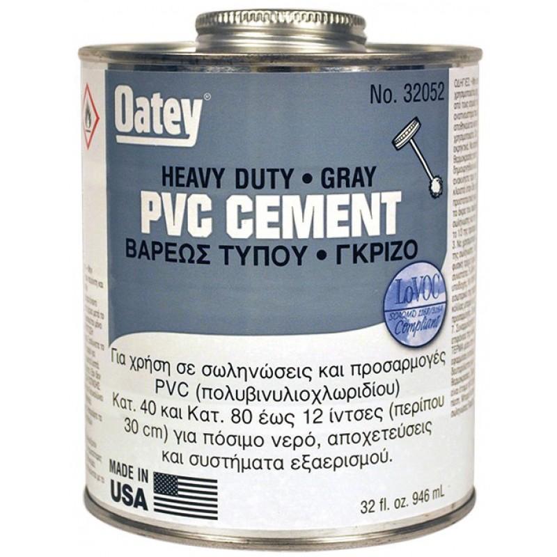 Κόλλα PVC Βαρέως Τύπου γκρι 16oz-500gr 08-32051 Oatey