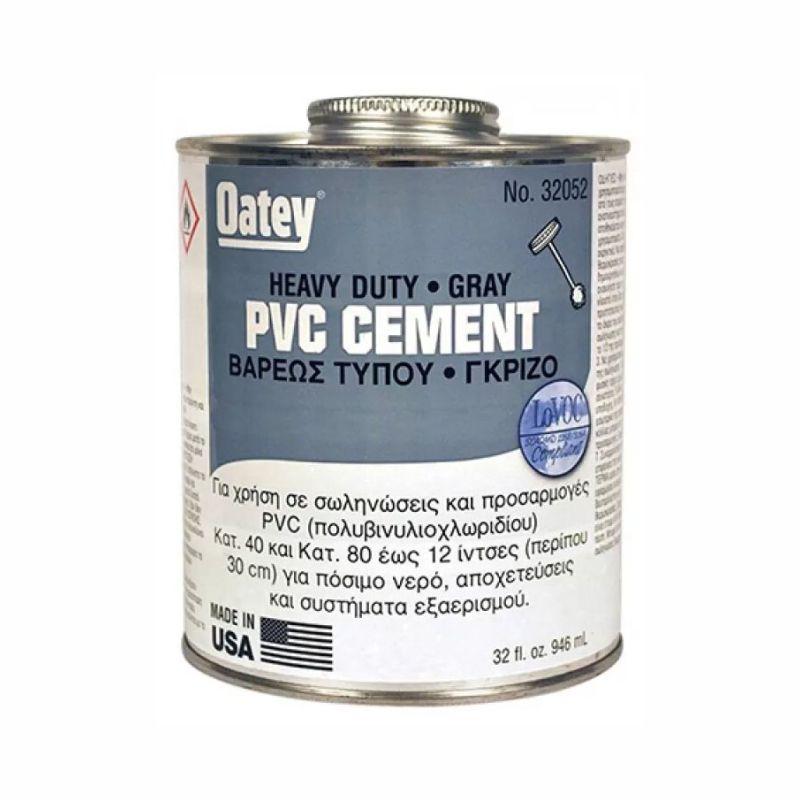 Κόλλα PVC Βαρέως Τύπου γκρι 8oz-250gr 08-32050 Oatey