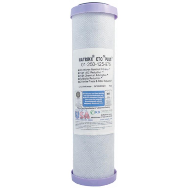 """Ανταλλακτικό φίλτρο για πόσιμο νερό 9 3/4"""" Συμπαγής ενεργός άνθρακας 0,6mic Matrikx 25-4180"""