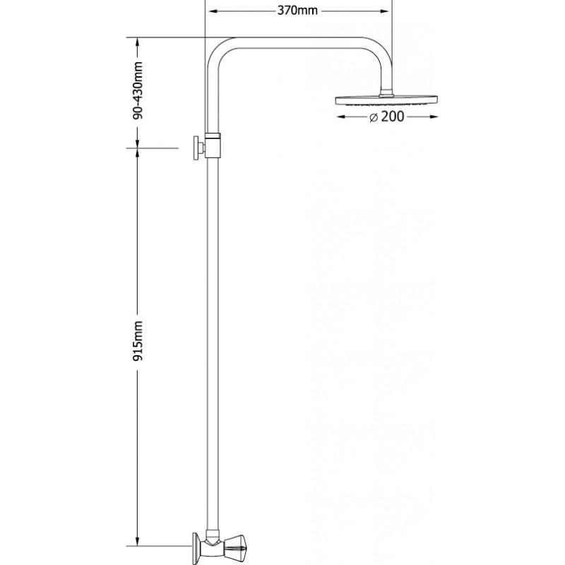 Ντουζιέρα Ρυθμιζόμενου Ύψους Corona Select 00-4352 Modea Viospiral