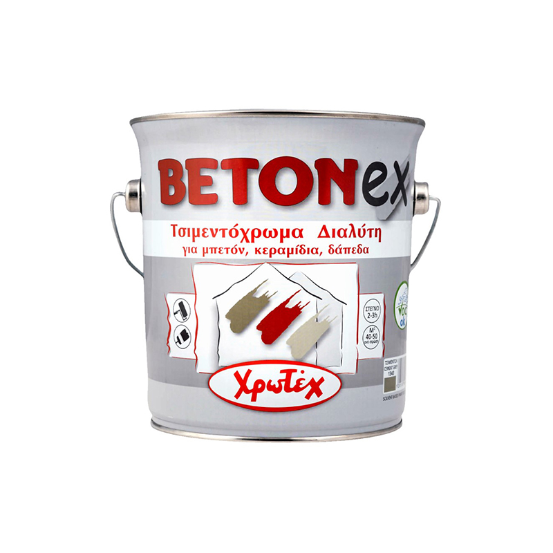 Τσιμεντόχρωμα Διαλύτη Betonex 0,75Lt Λευκό Χρωτέχ